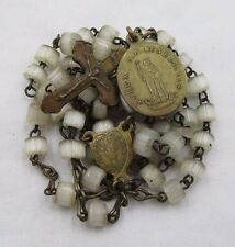 † ANTIQUE ST BENEDICT MEDAL BLESSED PROTECTION FROM EVIL & CANE SMALL ROSARY †