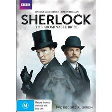 SHERLOCK:The Abominable Bride-Region 4-New AND Sealed-2 DVD Set-TV Series