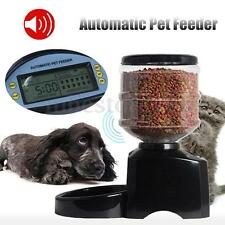 5.5L Automatic Programmable Dog Cat Pet Feeder Timer Food Dish Bowl Dispenser