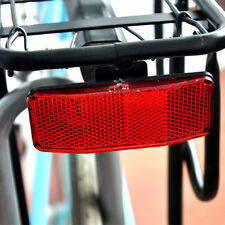 Plastic Bicycle Bike Night Safety Reflector Light For Rear Pannier Racks Kits