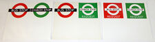 London Transport Paper Temporary Bus Stop Notice Flags (set of 3) - FREE UK POST