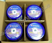 200 VERBATIM DVD+R DL Dual Layer AZO 8.5GB 8X Logo Branded 50pk Spindle 97000