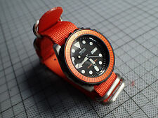XULU 5 RINGS BALISTIC NYLON STRAP IN -ORANGE- FOR YOUR MOD.SEIKO OR BOSTOK ST-02
