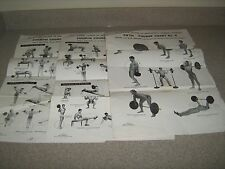 Original 3 Lot Joe Weider Wall Charts System Of Progressive Barbell Exercise
