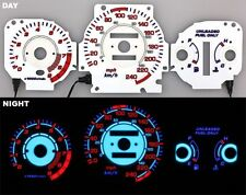 96-00 Civic EX Si GLi EL Night Glow Gauges White Reverse Blue AT KMH KM/H