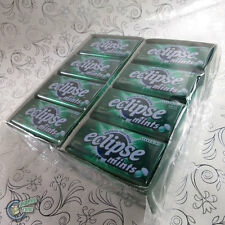 16x 50pcs Eclipse Mint Spearmint Green Metal Tin Box Wrigley's SUGARFREE Wrigley