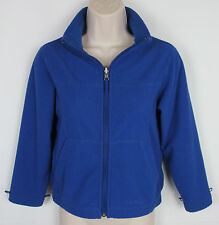 Youth LL Bean Thermal fleece athletic jacket full zip front Blue Size S 8