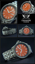 MASSIVE TITANIUM-BLACK HAWK PILOT MEN'S WATCH -MIYOTA AUTOMATIC ORANGE