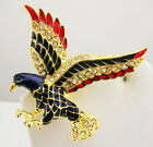 Kenneth Jay Lane Soaring Eagle Brooch 2""