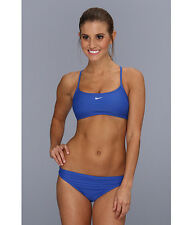 NIKE CORE SOLIDS SPORTS ACTIVE BIKINI SWIM 2 PC SET ROYAL BLUE SZ 4 NEW! $58