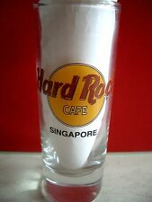 HRC hard rock cafe Singapore Classic logotipo Black Letter shot glass vasos de ginebra