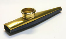 BLUE & GOLD FINISH METAL KAZOO MUSICAL INSTRUMENT - ANYONE CAN PLAY & HAVE FUN!