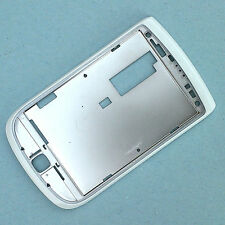 100% Genuine Blackberry Torch 9800 FRONTALINO Schermo Surround Lato Bianco + TOP
