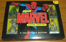 Marvel Classic Super Heroes Action Figures 2005 W/wolverine-Spider-Man-Hulk-Cap