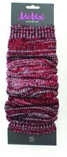 MeMoi Shaded Deluxe Knit Legwarmer Red Black & White One Size NWT