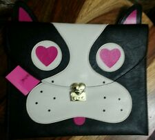 BETSEY JOHNSON Pug FRENCH BULLDOG Clutch Bag Handbag  NWT