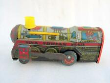 Vintage Old Friction Powered Tina Toofan Mail Litho Train Engine Tin Toy India