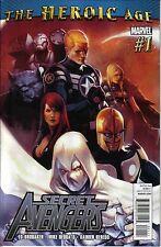 SECRET AVENGERS #1, 2, & 3 / HEROIC AGE / BRUBAKER / DEODATO / MARVEL COMICS