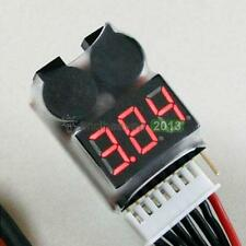 LCD Display 1-8S Lithium Battery Power Monitor Adjustable Alarm Voltage Detector