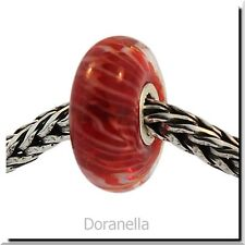 Authentic Trollbeads Glass 61349 Red Feather :0 RETIRED