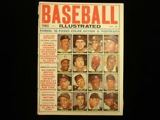 1965 Baseball Illustrated Magazine w/ Original Color Inserts!