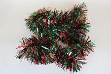Rouge et vert 2m (6.5 ft) de noël guirlandes arbre décorations guirlandes garland