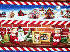 Patchwork Quilting Sewing Fabric ELF ON THE SHELF Material Cotton 50x55cm FQ New