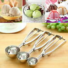 Ice Cream Spoon Stainless Steel Spring Handle Masher Cookie Scoop AE