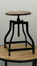 Vintage/Retro Industrial Crank Low Stool Bar/Pub/Cafe