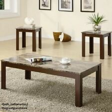 Coffee Table End Table Set Living Room Dining Office Bar Furniture Marble Modern