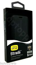 Genuine Otterbox Strada Funda para Estuche Abatible de Cuero Negro para Samsung Galaxy S7 Edge