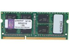 Kingston 8GB 204-Pin DDR3 SO-DIMM DDR3L 1600 (PC3L 12800) Laptop Memory Model KV