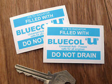 BLUECOL ANTIFREEZE Sticker Cortina Rover 2000 Jaguar