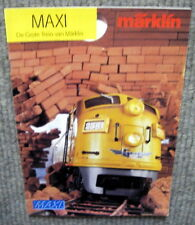 Original old catalogue of 90s Märklin Maxi - A4