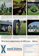 1966 Nova Scotia Canada Tourism Various Scenes PRINT AD