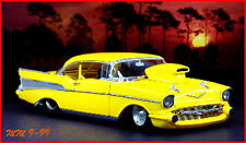 1:24 Danbury Mint 1957 Chevrolet Bel Air Pro Street Machine Hardtop in OVP