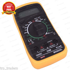 MAS830L Digital Handheld Multimeter Multitester White / Blue Backlight LCD