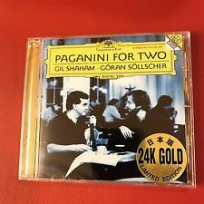 Paganini For Two (Gil Shaham / Sollscher)  24K Gold Audiophile CD Japan  NEW