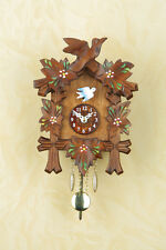 Reloj selva negra Pintado a mano Péndulo Esfera de madera Hecho Germany 70PB