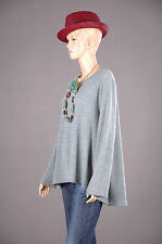 PREMIUM Oversize-Stil Pullover Tunika A-Linie Top Jacke Shirt Capestyle 44 46 48