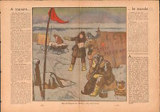 Jan Mayen Norway / North Pole Murmansk Mourmansk Russia USSR 1937 ILLUSTRATION