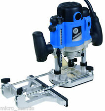 "Silverline 1500w Plunge Router Cutter 1/2"", 1/4"", 8 & 12mm Collets, 3yr Warranty"