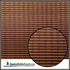 Oxblood w/ stripe grill cloth Replacement  for Fender **NEW 24in x 36in SIZE!**