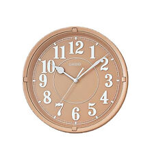 Casio Round Bedroom Kitchen Modern Decoration Wall Clock, Light Brown