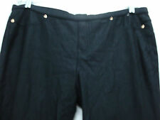 NWT Women's Hue Pearlized Jeans Leggings Size XL  Black #425H
