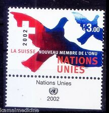 UN Geneva MNH 2002, Switzerland UN Member, Bird, Dove with Margin -Bi40