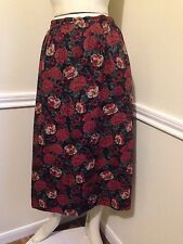 Women's Floral Rayon Skirt by Country Sophisticates Pendleton, Sz: 10