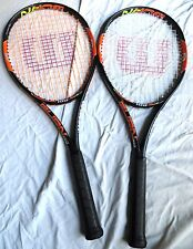 (2) Wilson Burn 100 Tennis Rackets STRUNG - BARELY USED - 16x19