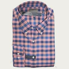 Saddlebred - Mens L - NWT - Tailored Fit Pink/Blue Gingham Oxford Pocket Shirt