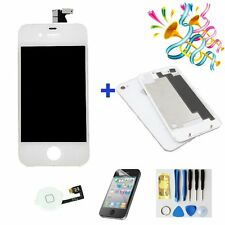 Replacement LCD Touch Screen Digitizer Assembly For iPhone4 +back cover  White